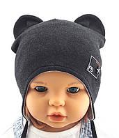 Трикотажная шапка детская Польша 45-50 см Двойная (ШД35)