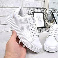 Кроссовки криперы Fancy белые, фото 1