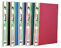 Папка с  10 файлами  A4 D1810 бордовая