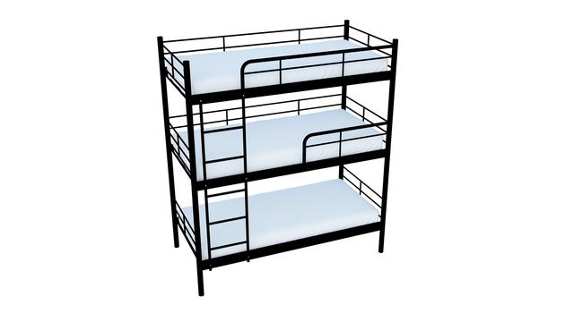 Кровати металлические 3х ярусные