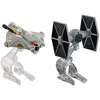 Star Wars 2 самолета, Истребитель vs Призрачно Звездный Hot Wheels 2-Pack - The Fighter vs. Ghost Starship