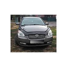 Дефлектор капота, мухобойка Hyundai Accent / verna 2006-> VIP