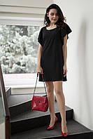Черное люрексовое платье JANET с рукавами-воланами