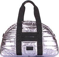 13cda6deca4c Poolparty Практичная и вместительная дутая универсальная сумка серебристого  цвета