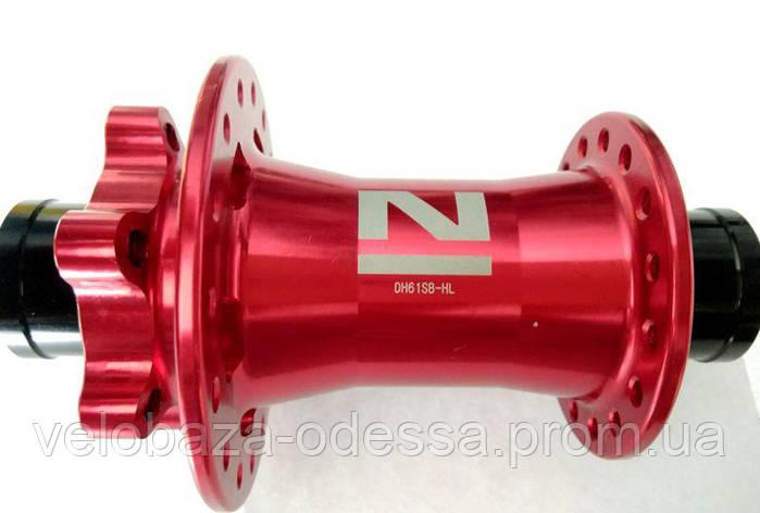 Передняя втулка NOVATEC DH61SB-HL-32H-RED, фото 2