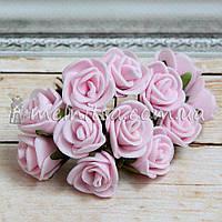 Розы из латекса, 1,5-2 см, св. розовый