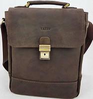 c5965fc036c6 Vatto Мужская коричневая сумка-барсетка из натуральной матовой кожи с  отделением для планшета и клапаном