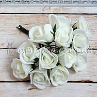 Розы из латекса, 1,5-2 см, кремовый