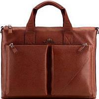 f39340548d1b Wittchen Статусная деловая коричневая кожаная сумка с карманом для  небольшого ноутбука