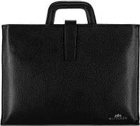 f51c6fab8a55 Wittchen Деловая черная кожаная сумка для документов с пространством для  ноутбука