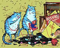 """Раскраска для взрослых и детей """"Коты проказники"""" 40 х 50см , Без Коробки"""