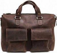 260e8b9b7577 Vatto Стильная коричневая мужская деловая сумка из натуральной матовой кожи