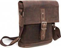 Vatto Повседневная мужская коричневая сумка-планшет из натуральной матовой кожи
