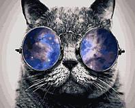 """Картина для рисования """"Космический кот"""" 40 х 50 см, Без Коробки"""