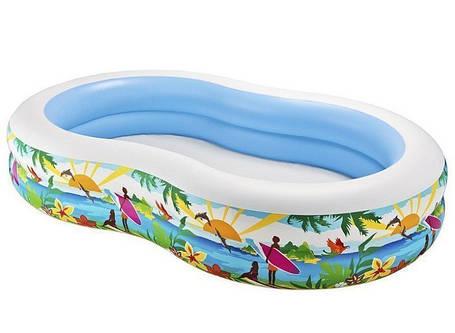 Надувний дитячий басейн Intex 56490 розмір 262*160*46 см, фото 2