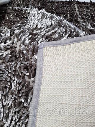 """Набор ковриков тройка """"Макароны"""" латекс,блестящие (серый), фото 2"""