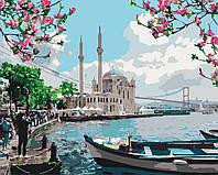 "Картина раскраска антистресс ""Турецкое побережье"", 40 х 50 см Без коробки"