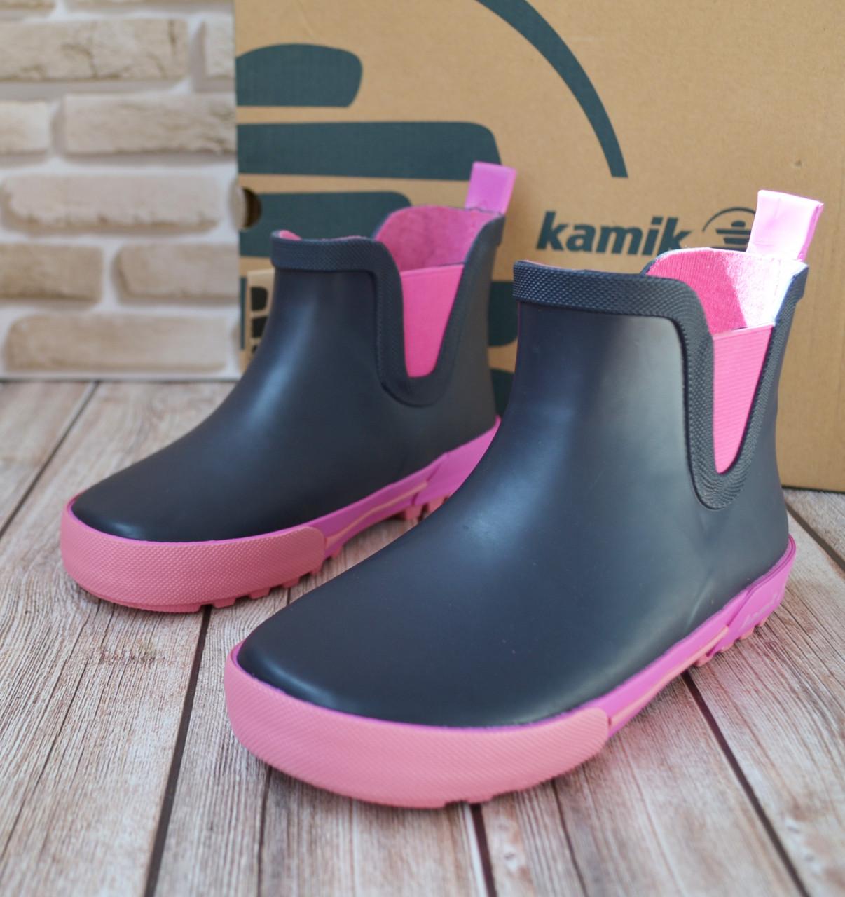 485d93e3a Резиновые ботинки для девочки KAMIK, р 30. Обувь на дождливую погоду. Брендовая  детская