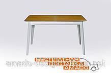 Стіл обідній Сингл 1300(+300)*800 ясен (ніжки білі) Мікс меблі