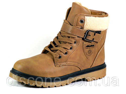Зимние ботинки Fashion shoes женские PU кожа на меху