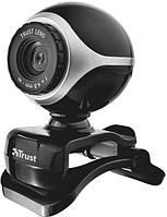 Веб камера trust exis webcam black silver (17003)