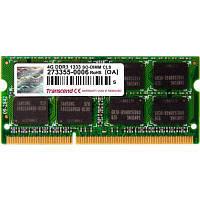 Модуль памяти для ноутбука SoDIMM DDR3 4GB 1333 MHz Transcend (TS4GAP1333S)