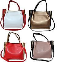 Женская сумка с вставками бренд MK (25*26*11)