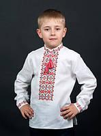 Вышиванка для мальчика с длинным рукавом белая