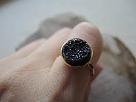 Позолоченное кольцо с друзами от WickerRing