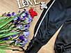 Модные женские брюки креп-атлас с лампасами и переплетом черные, красные, фото 6