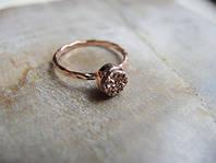 Изысканное обручальное кольцо с друзами от WickerRing