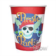"""Стаканы """"Pirate party"""", 210мл., цена за уп., в уп. 6шт"""