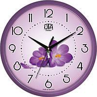 Часы настенные круглые Фиалки