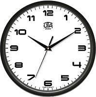 Часы настенные круглые черные Классика