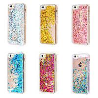 Перетекающий PC + TPU чехол Stardust (Звездная пыль) для Apple iPhone 5 / 5s / SE (6 цветов)
