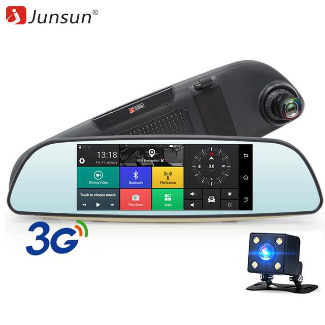 """Junsun E515 Автомобильный видеорегистратор навигатор зеркало  7"""", ,Android, 3G"""