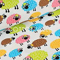 Хлопковая ткань Разноцветные барашки, фото 1