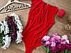 Эффектное женское боди купальник масло с рюшей красный, черный, фото 2