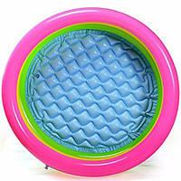 Intex 57107 Бассейн надувной детский 3 кольца (61х22 см), фото 1