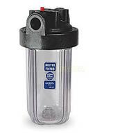 "10'' FHBC10BB1 (WF10BB1-CL) Прозрачный натрубный корпус фильтра Big Blue резьба 1"""