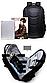 Городской Рюкзак для Ноутбука 15.6 Ozuko с Панцирем Черный, фото 5