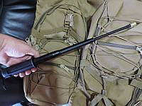 Телескопическая пружинная дубинка с экспертным заключением. Легальное оружие самообороны. Черная
