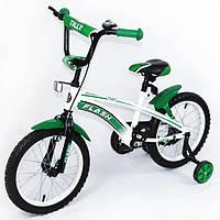 Двухсторонний велосипед, Велосипед TILLY FLASH 16 T-21645 Green, Велосипед с страховочными колесами