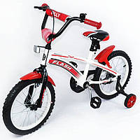 Детский Велосипед TILLY FLASH T-21644 Red,Велосипед 16 дюймов с страховочными колесами, Двухколесный велосипед