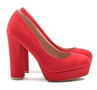 Красные замшевые женские туфли на платформе NZM-171691 36,37,38,39 47bf9b4a7cc