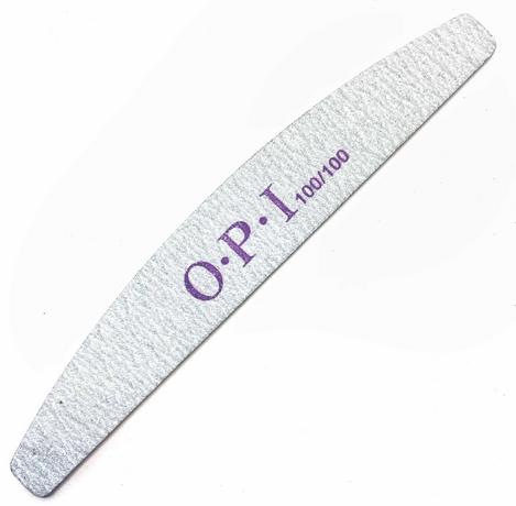 Набор пилок для ногтей OPI 100/100, полумесяц, 25 шт