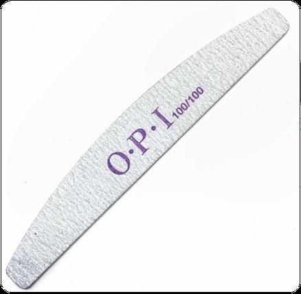 Набор пилок для ногтей OPI 100/100, полумесяц, 25 шт, фото 2