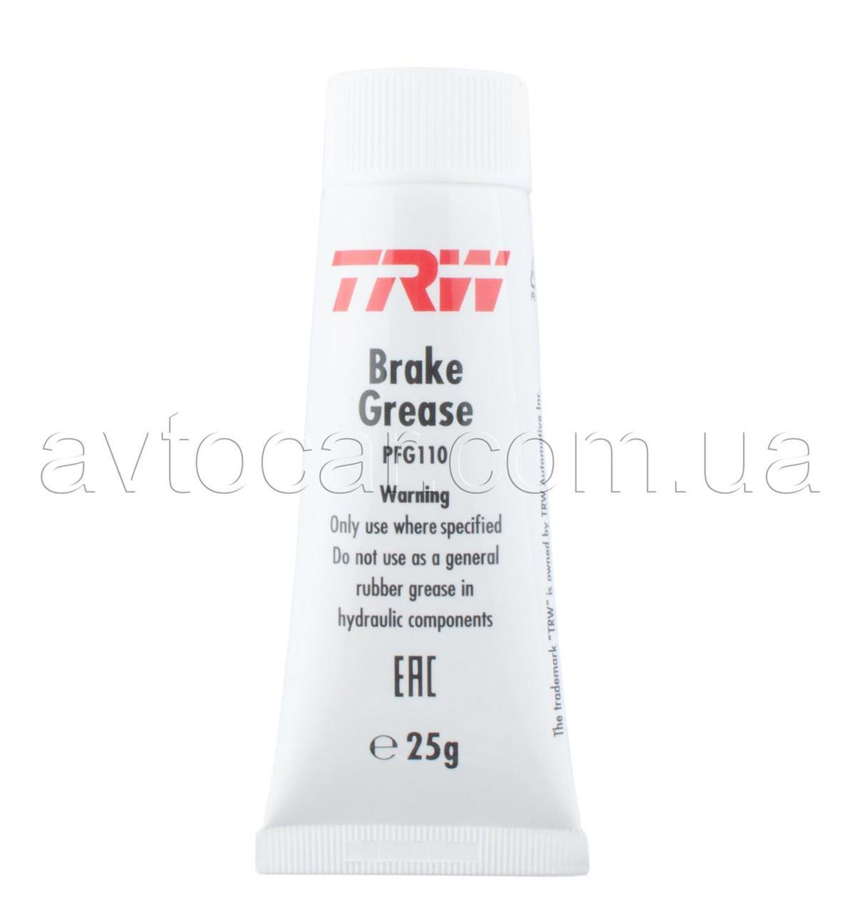 Cмазка для тормозной системы TRW® Brake Grease ☀ 1000 °C 25 мл