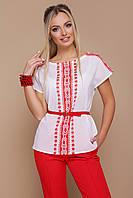 Орнамент красный блуза Мира б/р
