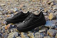 Кроссовки Nike Air Force 1 Low черного цвета, фото 1